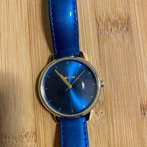NWOT Nixon Kensington blue patent watch